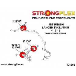 136053B: Front & rear suspension bush kit full
