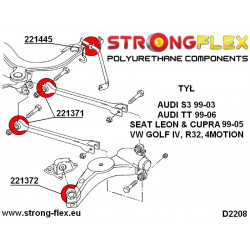 276117A: Zestaw poliuretanowy stabilizatora i łączników przednich SPORT