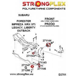 286100B: Rear suspension bush kit