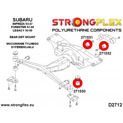 286132A: Rear suspension bush kit SPORT