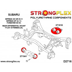 276159A: Full rear suspension bush kit SPORT