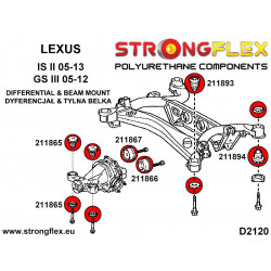 136032A: Front suspension bush kit SPORT