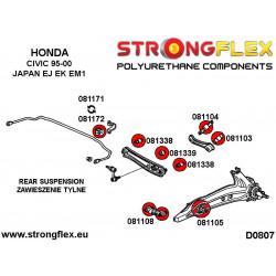 081252A: Wkładki tylnej poduszki silnika SPORT