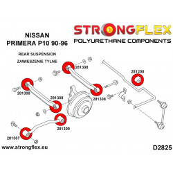 086203B: Rear suspension bush kit