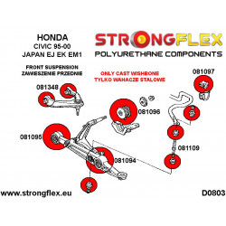 081255A: Wkładki prawej dolnej poduszki silnika SPORT