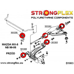 036047B: Front & rear suspension bush kit