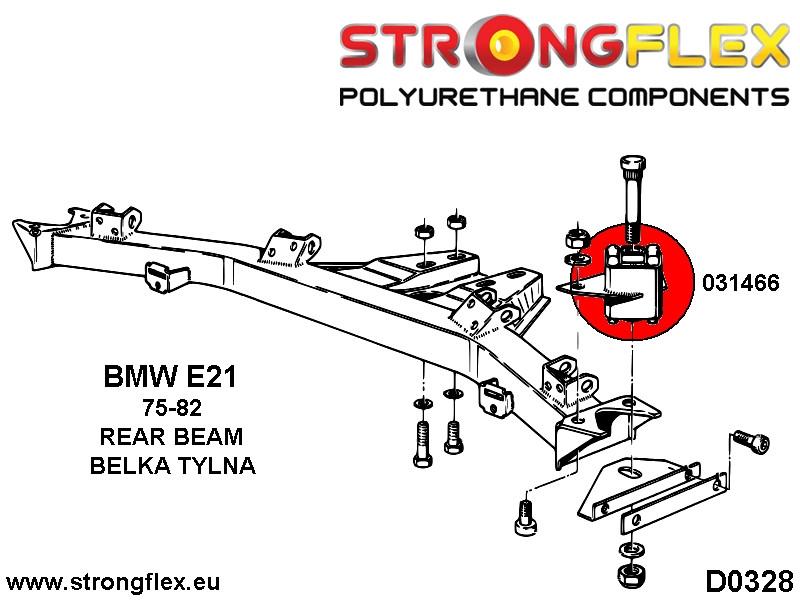226086A: Front suspension bush kit SPORT - STRONGFLEX
