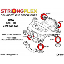 036241A: Rear subframe bush kit SPORT