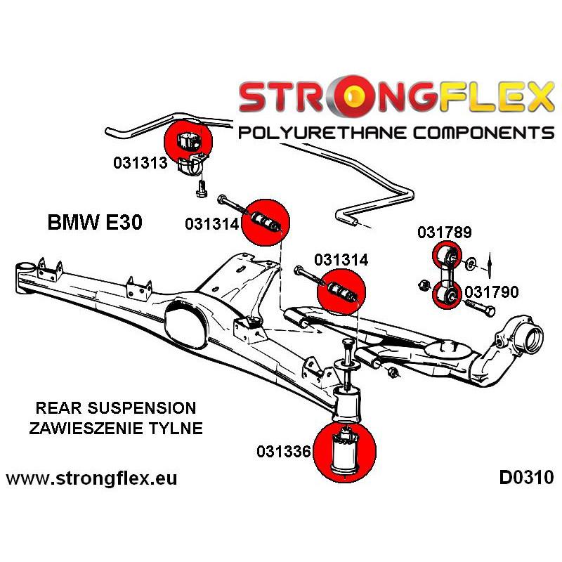 031963A: Tuleja łącznika stabilizatora tylnego do wahacza SPORT