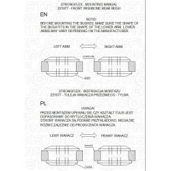 271147A: Tuleja stabilizatora przedniego SPORT