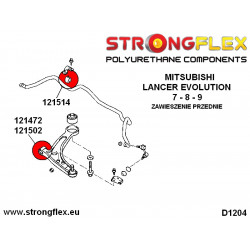 031933A: Tuleja wspornika drążka zmiany biegów - tylna SPORT