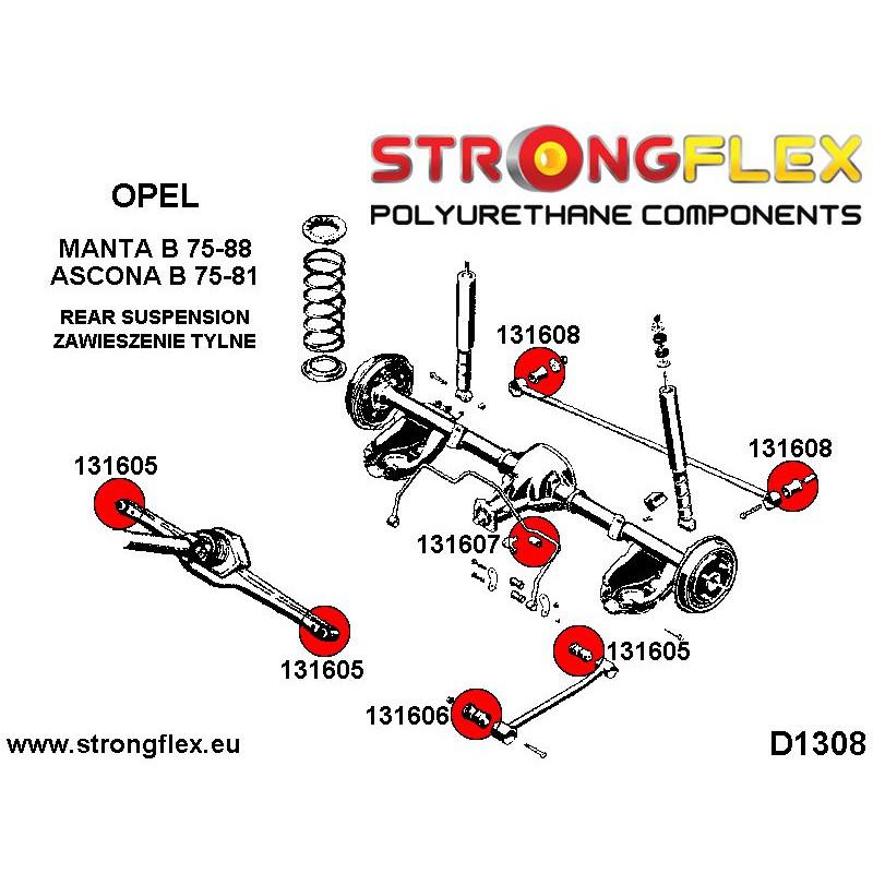 036245B: Zestaw tulei tylnego wózka