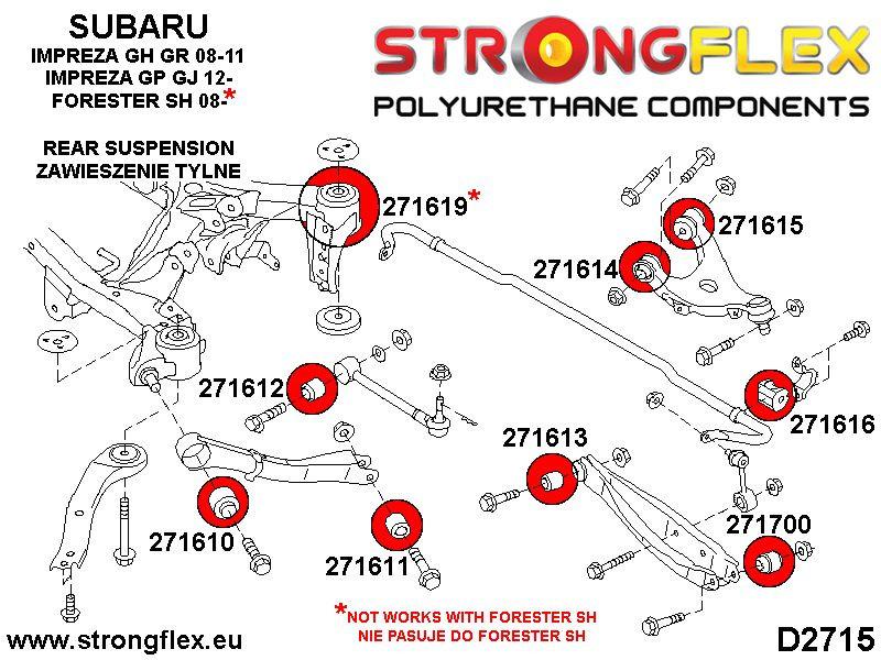 086206B: Suspension polyurethane bush kit - STRONGFLEX
