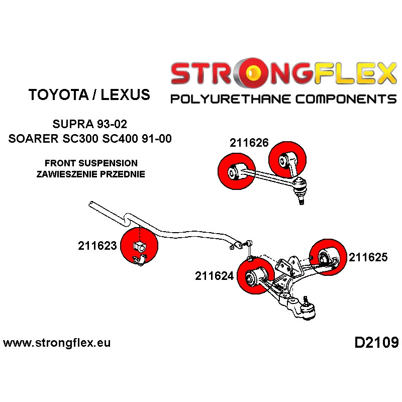 216242B: Rear suspension bush kit