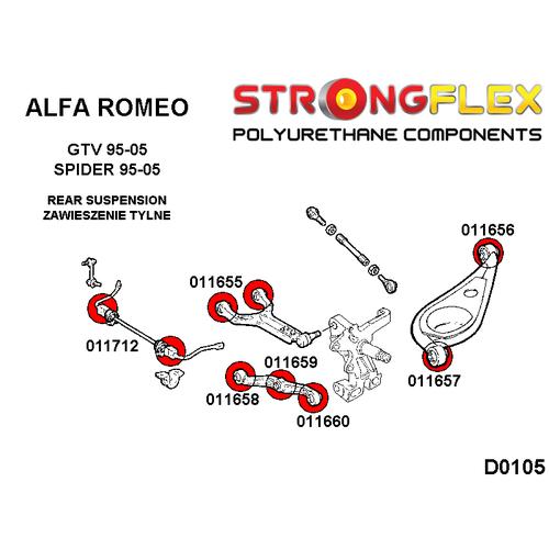 Alfa Romeo GTV Spider Rear Anti Roll Bar Bush Polyurethane