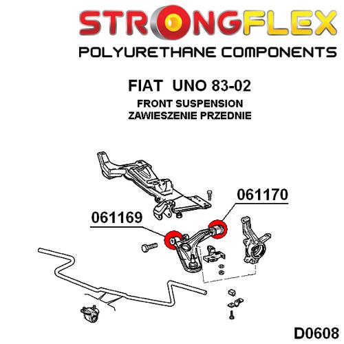 Front Wishbone Rear Bush Sport For Fiat Cinquecento